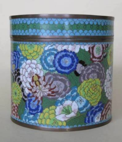 16: Cloisonne covered box