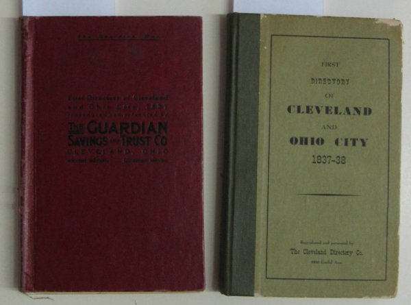 12: ''Directory of Cleveland and Ohio City 1837-38''