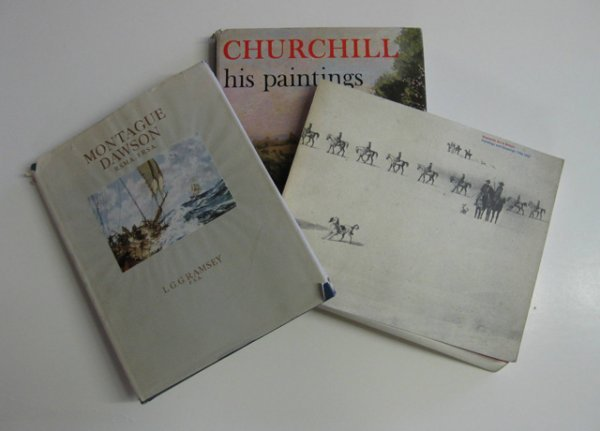 13: 5 books and catalogs of marine paintings