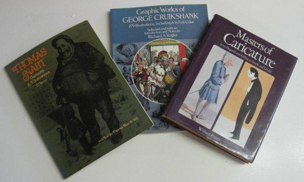 15: 10 books on caricatures, etc.