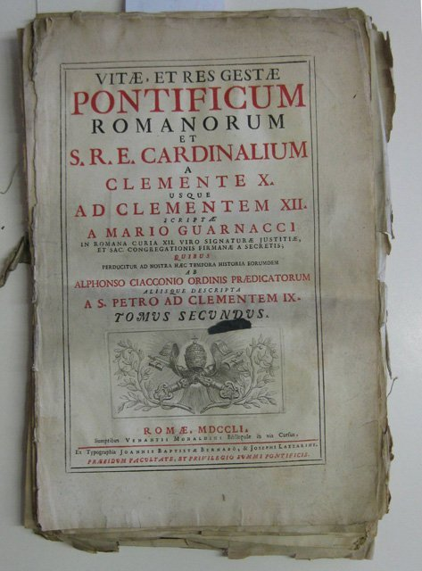17A: ''Vitae et Res Gestae Pontificum...