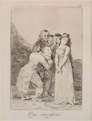 Francisco Goya aquatint and etching