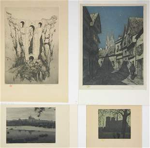 4 Tavik F. Simon etchings