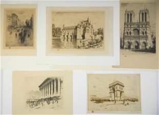 5 Tavik F. Simon etchings