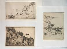 3 Ernest Lumsden etchings