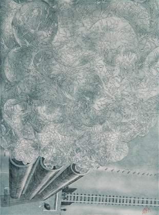 David Crown mezzotint