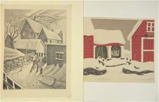 2 American prints- Floethe & Kautzman