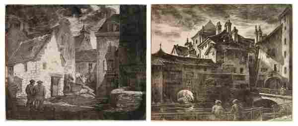 2 Grace Albee wood engravings