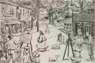 Peggy Bacon drypoint