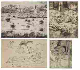 4 Peggy Bacon drypoint