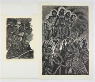 2 Fritz Eichenberg wood engravings