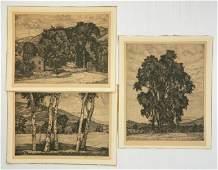 3 Luigi Lucioni etchings