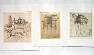 3 Ernest Roth etchings