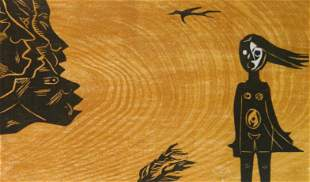 Francisco Amighetti woodcut