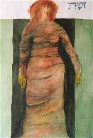 Leonard Baskin watercolor