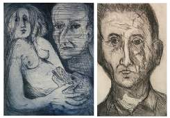 2 Sigmund Laufer etchings