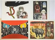 4 Leticia Tarrago etchings