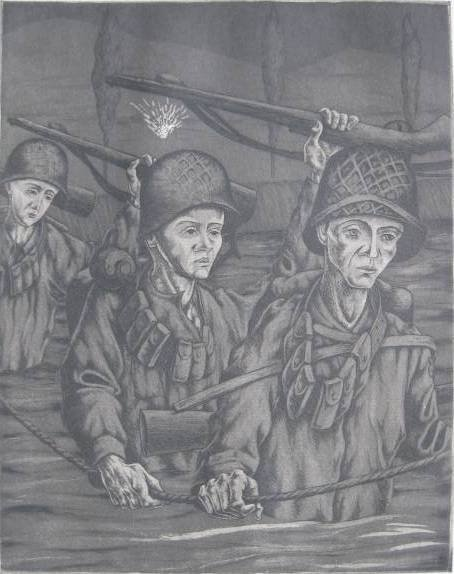 8: American School- WWII etchings