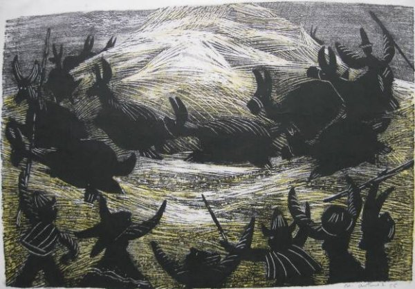 24: Nemsio Antunez woodcut- Chilean