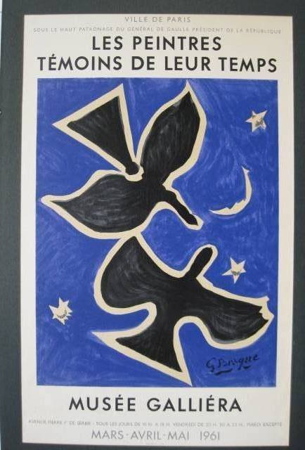 55: George Braque lithographic poster