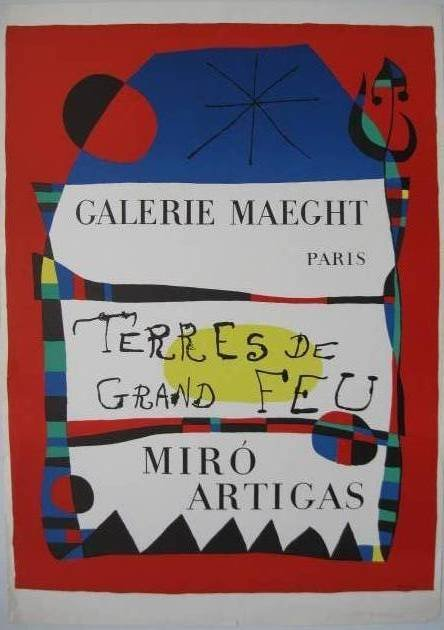 323: after Joan Miro lithographic poster in colors