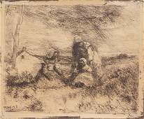 Jean-Baptiste-Camille Corot etching