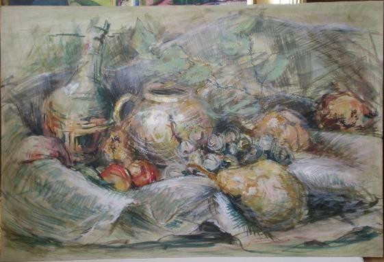 8: 20th c. American School gouache and watercolor