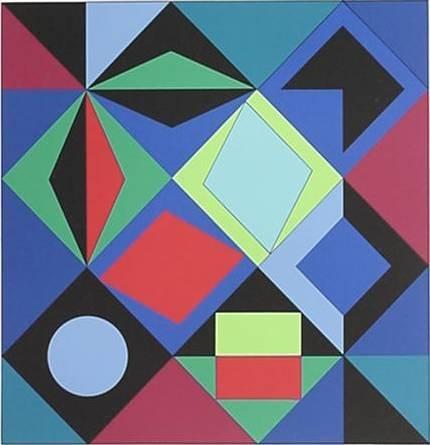 624: Victor Vasarely silkscreen