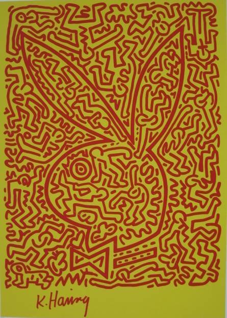 556: Keith Haring lithograph in colors