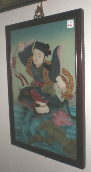707: Chinese reverse painting on glass