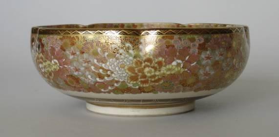 722: Japanese 19th c. ceramic bowl