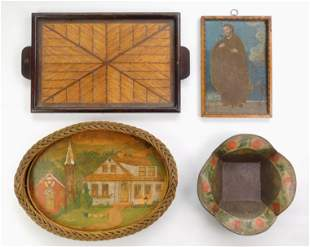 4 Folk art items