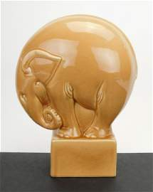Large Cowan elephant paperweight.