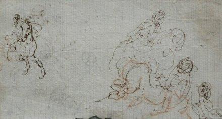 1: 17/18th c. Italian School drawing