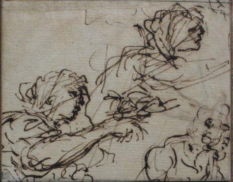 3: 17/18th c. Italian School drawing