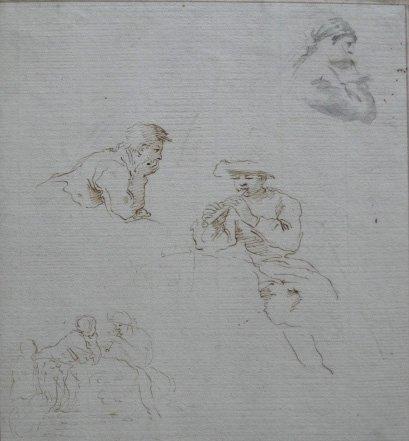 4: attr. to Giovanni Francesco Barbier drawing