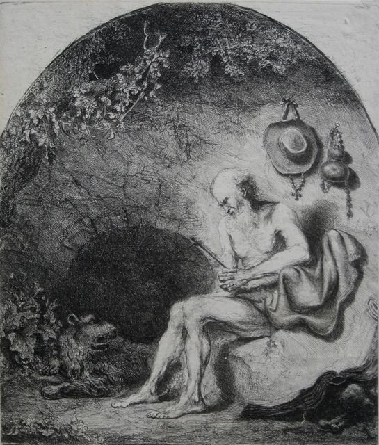 6: Ferdinand Bol etching and drypoint