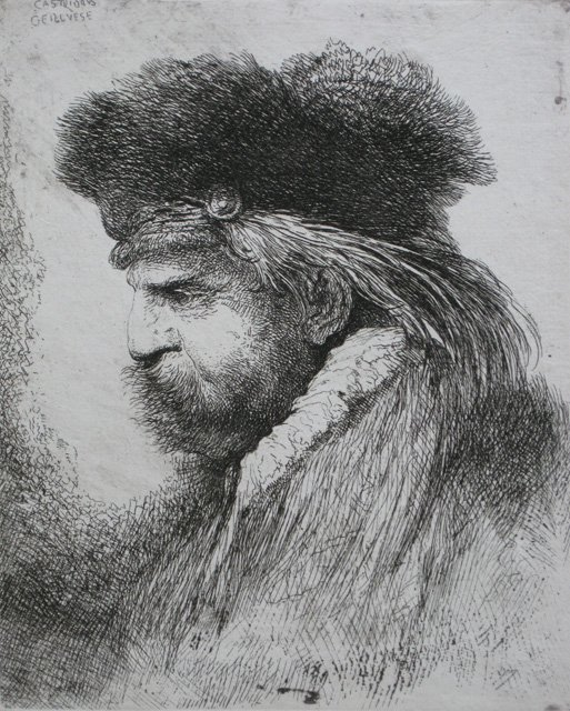 11: Giovanni B. Castiglione etching and drypoint