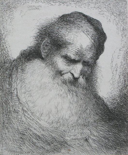 12: Giovanni Benedetto Castiglione etching