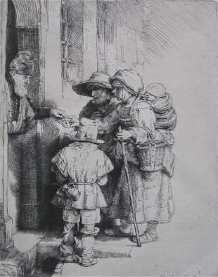 90: Rembrandt van Rijn etching