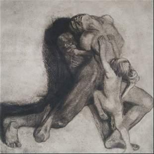 358: Kathe Kollwitz etching