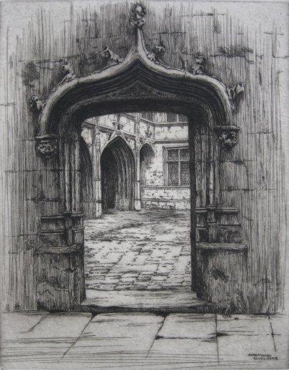 618: Caroline Armington etching