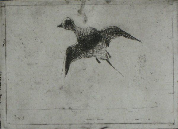 631: Frank Benson etching and drypoint