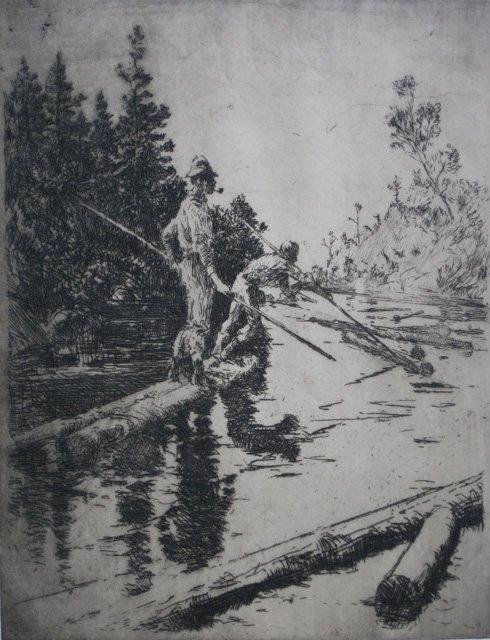 632: Frank Benson etching