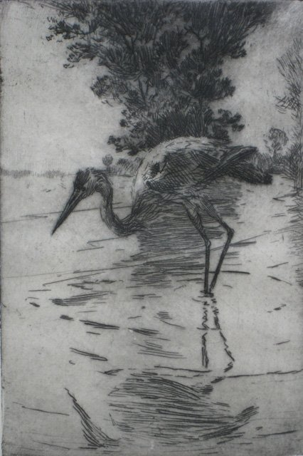 633: Frank Benson etching