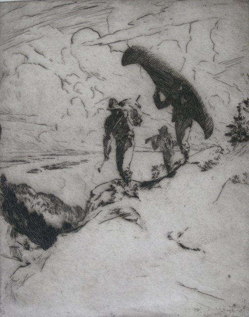 637: Frank Benson etching