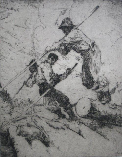 638: Frank Benson etching