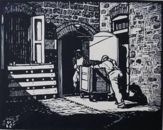 787: Norman Kent 3 woodcuts