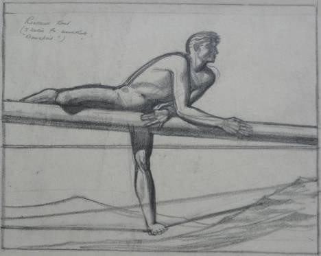 802: Rockwell Kent graphite on paper