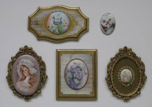 5: 5 porcelain plaques by Helen Litkovitz
